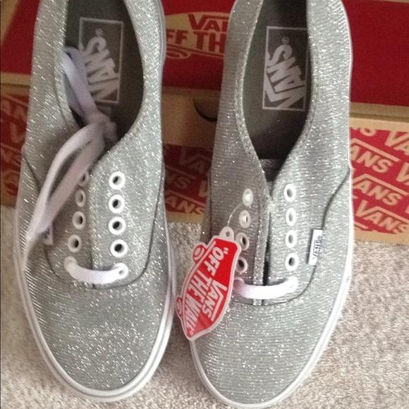 styl mody najlepszy wybór wyprzedaż ze zniżką Vans Women's Authentic Shimmer Silver Shoes NIB NWT